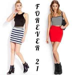 BOGO 李 F21 Bundle of 2 Mini Skirts